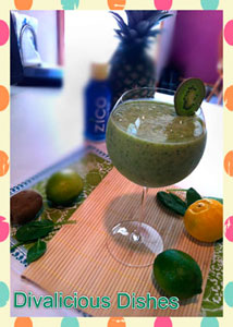Kiwi-pineapple-spinach-smoo